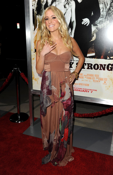 Kristin Cavallari Cocktail Ring [country strong,clothing,red carpet,dress,carpet,premiere,hairstyle,long hair,shoulder,blond,flooring,arrivals,kristin cavallari,beverly hills,california,screen gems,the academy of motion picture arts sciences,screening,screening]