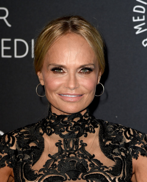 Kristin Chenoweth Ponytail [hair,face,hairstyle,eyebrow,blond,chin,beauty,lip,shoulder,dress,kristin chenoweth,conversation - arrivals,conversation,beverly hills,california,the paley center for media,paleylive la presents an evening with kristin chenoweth]