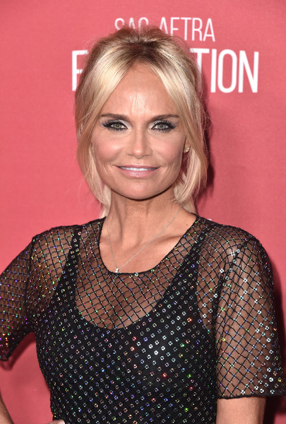 Kristin Chenoweth Loose Ponytail [hair,blond,hairstyle,eyebrow,chin,lip,cocktail dress,long hair,dress,brown hair,arrivals,kristin chenoweth,beverly hills,california,wallis annenberg center for the performing arts,sag-aftra foundations 3rd annual patron of the artists awards,sag-aftra foundations 3rd annual patron of the artists awards]
