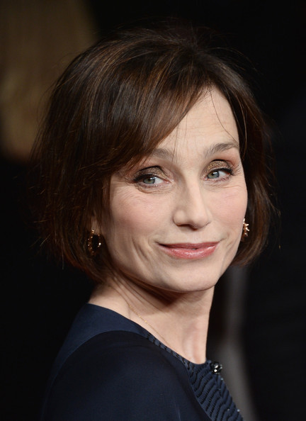 Kristin Scott Thomas Bob [kristin scott thomas,the invisible woman,the invisible woman uk premiere,hair,face,hairstyle,eyebrow,chin,lip,beauty,head,lady,cheek,london,england,odeon kensington]