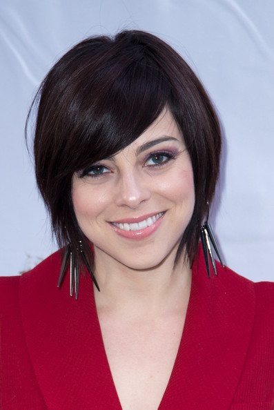 Krysta Rodriguez Short Scene Cut [macbeth,hair,face,hairstyle,eyebrow,chin,bangs,layered hair,black hair,bob cut,lip,krysta rodriguez,curtain call,new york city,the ethel barrymore theatre,broadway,opening night - arrivals]