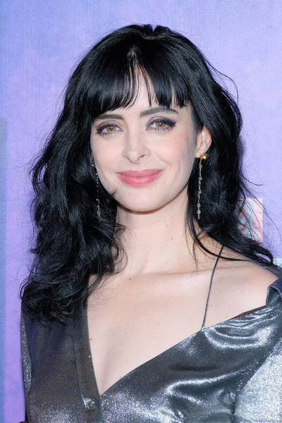 Krysten Ritter Medium Curls with Bangs