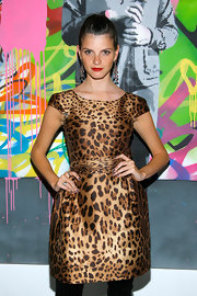 Jeisa showed off the hottest print for the fall season, a leopard print dress.