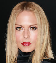 Rachel Zoe wore a satiny classic red lipstick at an LA Gay & Lesbian Center benefit for Homeless Youth Services.
