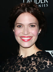 Mandy Moore wore a pretty pearly raspberry shade of lipstick while attending a benefit for Homeless Youth Services.
