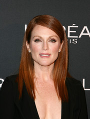 Julianne Moore went for sleek sophistication with this straight side-parted hairstyle at the premiere of 'Still Alice.'