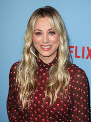 Kaley Cuoco was a boho beauty with her long blonde waves at the LA premiere of 'Between Two Ferns: The Movie.'