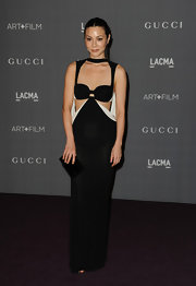 China Chow took cutouts to a whole new level with this daring black cutout gown.