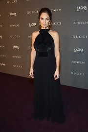 Minka Kelly can look magnificent in the simplest of black evening gowns.
