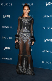 Nicole Richie's beaded black sheer Dolce & Gabbana gown at the LACMA Art + Film Gala was a perfect blend of elegant and sexy.