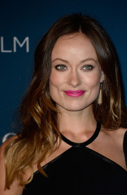 Olivia Wilde brightened up her beauty look with a swipe of pink lipstick when she attended the LACMA Art + Film Gala.