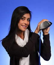 Veronica Felibert kept her long hair sleek and straight for her LPGA Q-School headshots.