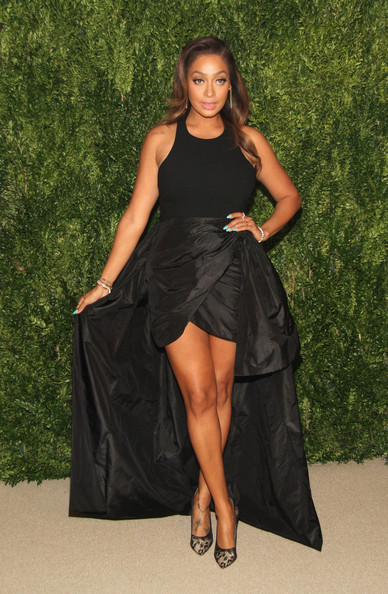 La La Anthony Fishtail Dress