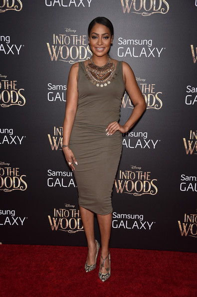 La La Anthony Pumps [into the woods premieres,into the woods,flooring,dress,little black dress,shoulder,cocktail dress,carpet,fashion,fashion model,joint,red carpet,la la anthony,nyc,ziegfeld theater,world premiere]