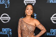 La La Anthony Sheer Dress
