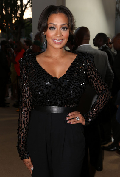 La La Anthony Embellished Top
