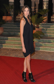 Daria Werbowy looked great in a halter LBD at Mamounia Hotel's inauguration.