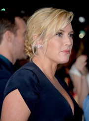 Kate Winslet looked breathtaking at the 'Labor Day' premiere wearing her hair in a glamorous chignon.