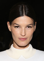 Hanneli Mustaparta sported a sleek center-parted ponytail at the Lacoste fashion show.