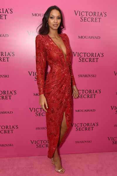 Lais Ribeiro Beaded Dress