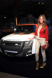 Kelly Bensimon attended an event for Land Rover in NYC wearing a pair of cheery yellow pumps.