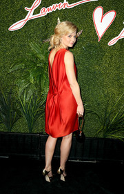 Jennifer Morrison donned a red Lanvin dress with a dramatic V-plunge back for the Evening of Fashion event.
