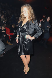 The draping on Jade Jagger's little black dress was stunning and sophisticated!