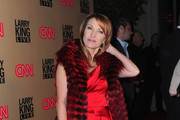 Actress Jane Seymour arrives at CNN's
