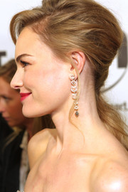 Kate Bosworth looked downright fab at the 'Homefront' premiere wearing this teased side ponytail.
