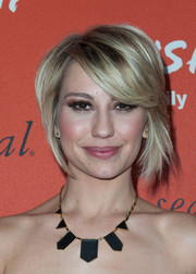 Chelsea Kane showed off a chic layered razor cut at the Crush launch.