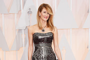 Laura Dern Strapless Dress
