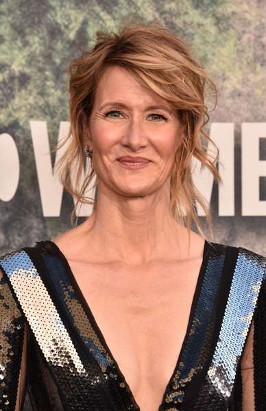 Laura Dern Loose Ponytail [twin peaks,hair,hairstyle,blond,premiere,layered hair,surfer hair,long hair,brown hair,feathered hair,smile,arrivals,laura dern,the theatre,california,los angeles,ace hotel,showtime,premiere]