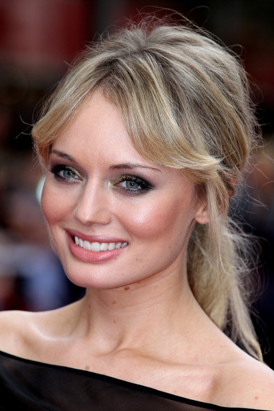 Laura Haddock Loose Ponytail