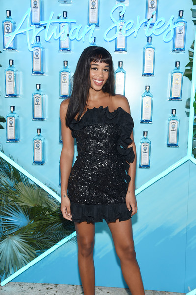 Laura Harrier Strapless Dress