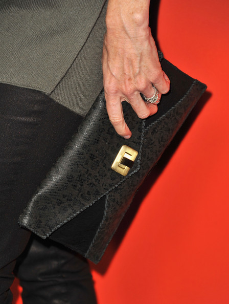 Laura Leighton Envelope Clutch [pretty little liars,episode,episode,hand,carpet,flooring,laura leighton,purse detail,hollywood forever cemetery,california,abc family,screening,screening]