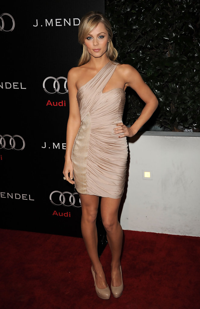Laura Vandervoort One Shoulder Dress Laura Vandervoort