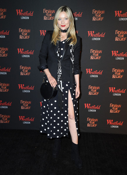 Laura Whitmore Print Dress [clothing,premiere,fashion,dress,footwear,performance,carpet,flooring,event,outerwear,fashion,relief pop-up store,photocall,fashion for relief,westfield london,pop-up store,england,laura whitmore]