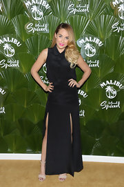Lauren Conrad showed off just a bit of leg with this long skirt that featured two leg slits.
