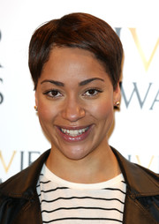 Cush Jumbo wore her hair in a boy cut at the Laurence Olivier Awards nominees announcement.
