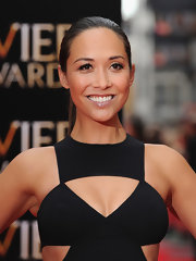 Myleene Klass kept her red carpet look sleek and modern from head to toe with this slicked back pony.
