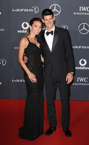 Jelena Ristic wore a lace mermaid gown to the Laureus World Sports Awards.