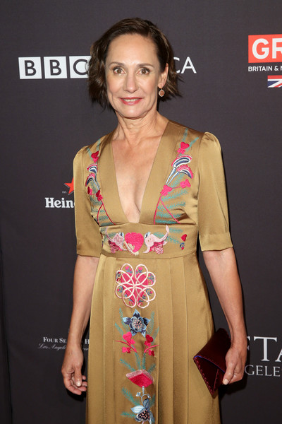 Laurie Metcalf Envelope Clutch [clothing,hairstyle,carpet,fashion,dress,fashion design,premiere,fashion model,long hair,red carpet,arrivals,laurie metcalf,los angeles,four seasons hotel,california,beverly hills,bafta,tea party]