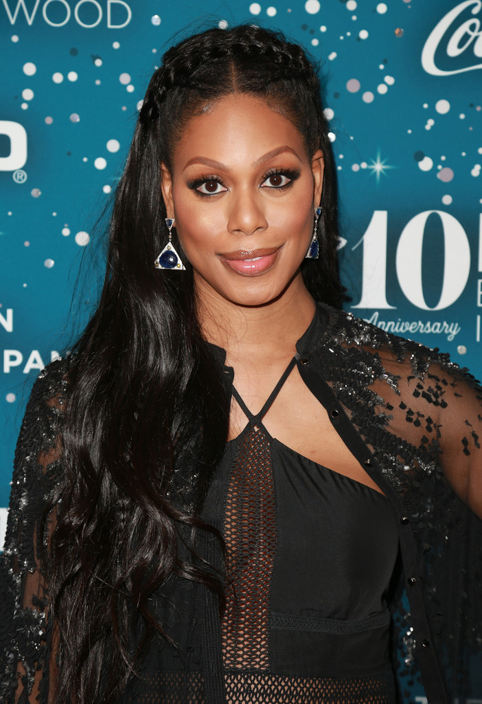 Laverne Cox Long Partially Braided Laverne Cox Looks