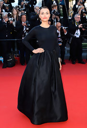 Samantha Barks stunned in black from head to toe at the Cannes Film Festival.