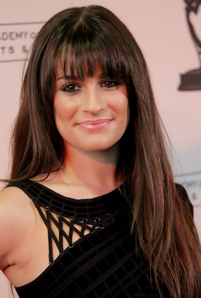 Lea Michele Hair. Actress Lea Michele attends the Academy of Television Arts ...