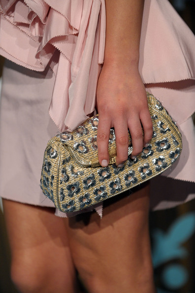 Lea Michele Quilted Clutch []