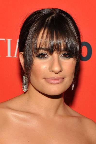 Lea Michele Dangling Diamond Earrings [time,red carpet,hair,face,hairstyle,bangs,chin,eyebrow,lip,beauty,forehead,cheek,people,lea michele,tv personality,jazz,lincoln center,new york city,100 most influential people in the world gala,world gala]