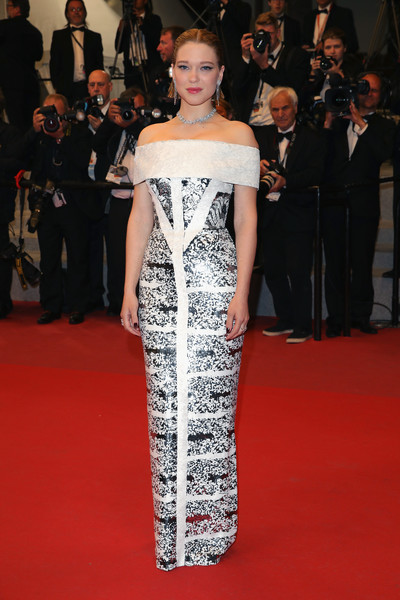 Lea Seydoux Off-the-Shoulder Dress