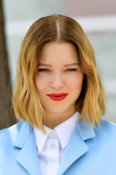 Lea Seydoux Red Lipstick [photocall - the 72nd annual cannes film festival,hair,face,blond,hairstyle,lip,chin,eyebrow,beauty,skin,hair coloring,lumiere,lea seydoux,oh mercy,photocall,roubaix,cannes,france,cannes film festival on may 23]