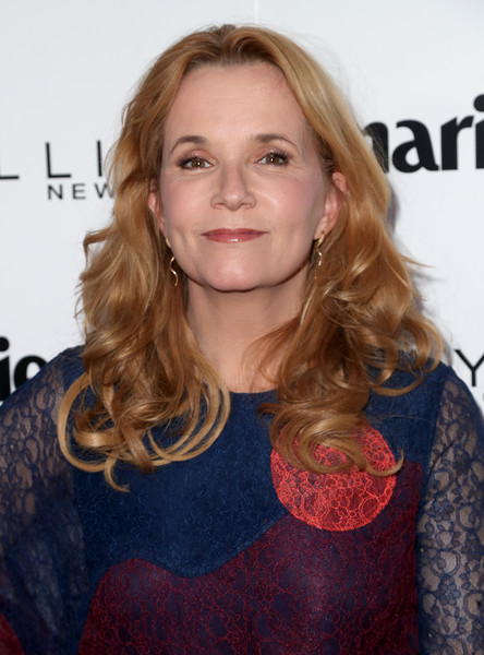 Lea Thompson Long Curls [hair,hairstyle,blond,premiere,long hair,chin,brown hair,lip,layered hair,feathered hair,arrivals,marie claires,lea thompson,fresh faces,west hollywood,california,doheny room,maybelline,celebration,event]